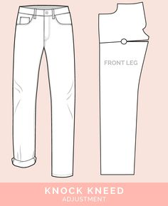 Knock Kneed Adjustment // 12 common jeans and pants adjustments // Closet Case Files