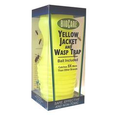 The Bee Free Wasp Deterrent is effective at repelling wasps. Wasps have a natural instinct to avoid the nests of other wasps, and by giving the appearance of a wasp nest, the Bee Free keeps wasps at a safe distance from wherever it is hung. Wasp Trap Bait, Wasp Traps, Fly Traps, Bug Control, Pest Control, Wasp Deterrent, Wasp Nest, Bee Free, Natural Pesticides