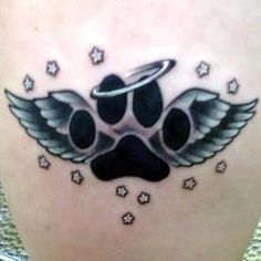 Wings Tattoo Ideas And Their Meanings Hot Tattoos, Body Art Tattoos, Print Tattoos, Cat Paw Print Tattoo, Tatoos, Time Tattoos, Couple Tattoos, Tribal Tattoos, Tatoo Angel