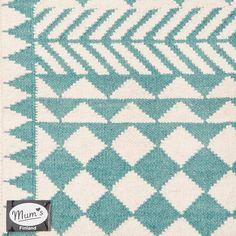 Mum's loves Africa- rug. Turquoise & natural. Design MUM's, Outi Puro