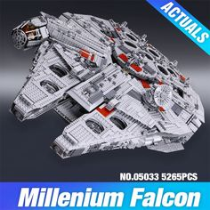 238.89$  Buy here - http://ali77y.worldwells.pw/go.php?t=32790000210 - 2017 LEPIN Star Wars 35002 Millennium Falcon Model Building Blocks Bricks Set Toys Gift Toys for Children 05033 5265Pcs 10179