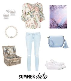 """""""Summer date"""" by nataliazagorna on Polyvore featuring Frame Denim, Billie & Blossom, Converse, Kate Spade and Thomas Sabo"""