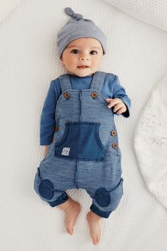 Buy Blue Jersey Dungarees Set (0mths-18mths) online today at Next: Croatia
