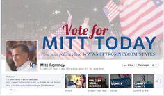 Perfil del candidato Romney en Facebook