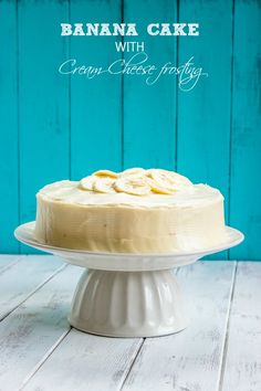 Banana Cake with Cream Cheese Frosting - Brunch Time Baker