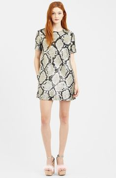 """Free shipping and returns on ASHISH Python Sequin Shift Dress at Nordstrom.com. <p><B STYLE=""""COLOR:#990000"""">Pre-order this style from the Spring 2015 collection! Limited quantities. Ships as soon as available. You'll be charged only when your item ships.</b></P><br>London's Delhi-born King of Sequins dazzles and delights with his heavily embellished street-chic creations, proving that sequin-decked glamour isn't exclusive to red-carpet fame. Here, a short-sleeve cotton shift tones down ..."""