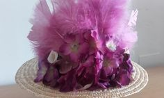 Armani icon Canotier Hat Head Celebrities Runway Dress Jumpsuit Flowers Tulle #Handmade #PartyEveryDayGoodLookWedding