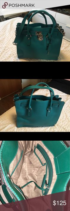Michael Kors Hamilton Satchel Large, Beautiful Green color. In Perfect Condition. Make an offer! MICHAEL Michael Kors Bags Satchels