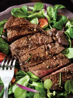 If you've been craving some steak, but want to stay #heart healthy or make a #diabetes friendly meal, try this grilled flank steak salad #recipe: http://blogs.jeffersonhospital.org/atjeff/2013/06/14/grilled-flank-steak-salad-recipe/?TJUH%20Facebook