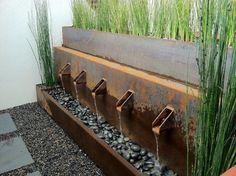 Cordon steel / pebbles / paving / slate