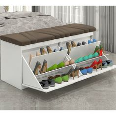 Shoe bench for walk in closet