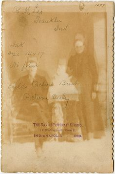 Ghost image on the back of a cabinet card.