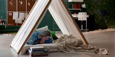 DIY déco: Un tipi pour chambre d'enfant