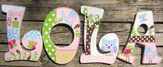 Custom Hand Painted Wooden Letters for by JessiesLetters on Etsy, $18.00