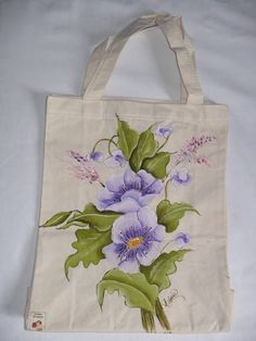 . Painted Bags, Painted Clothes, Hand Painted Canvas, T Shirt Painting, One Stroke Painting, Fabric Painting, Tote Bags Handmade, Fabric Bags, Jute Bags