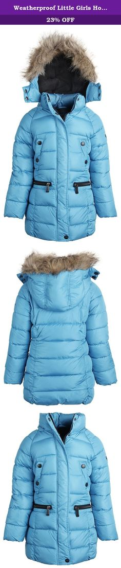 Weatherproof Little Girls Hooded Down Alternative Fleece Lined Winter Parka Coat - Blue (Size 5/6). Coats by Weatherproof do big things to little bodies. In the roughest winter could give, your sweetheart will be well protected in this puffer coat. Packed with soft fill, and lined with fleece, this jacket is a real warmth attracter and snug wristbands work to have it stay inside. At the hips and chest there are pockets to keep hands warm and belongings safe. Its hood, trimmed with faux…