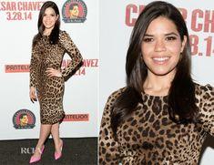America Ferrera In Dolce & Gabbana - 'Cesar Chavez' New York Screening