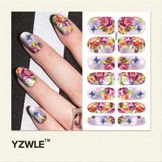 YZWLE  1 Sheet Water Transfer Nails Art Sticker Manicure Decor Tool Cover Nail Wrap Decal (YSD033) #clothing,#shoes,#jewelry,#women,#men,#hats,#watches,#belts,#fashion,#style