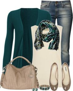 I am in love with this outfit. It is a fall outfit, that I would wear any day. I would wear black converse instead of the flats, to make it more casual. Womens Fashion For Work, Look Fashion, Winter Fashion, Fashion Rings, Fashion Jewelry, Polyvore Outfits, Polyvore Casual, Mode Outfits, Casual Outfits