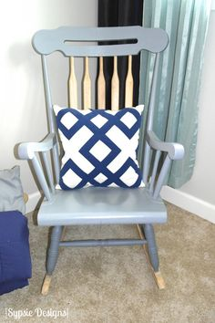 Rocking chair makeover photo