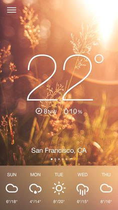 Dribbble - weather app Andrée Afonso