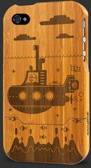 Engaged Bamboo iPhone 4 Cases - fully customizable! I want one with the Apple logo on it.