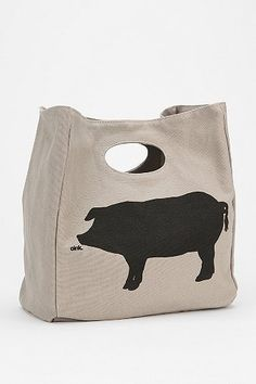 Fluf Organic Lunch Bag... a pig lunch box for me!