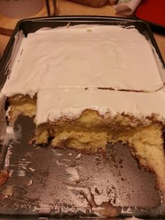 Easy tres leches cake... Use the duncan hines yellow butter cake mix and bake as directed. when still a bit warm poke a few holes with a fork, mix a can of pet milk, condensed sweet milk and small 8oz of whipping cream together, pour slowly over cake in 2 batches til soaked, top with cool whip then refrigerate about 2 hrs =) enjoy!!