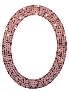 Espelho com moldura oval - Mosaicoartes