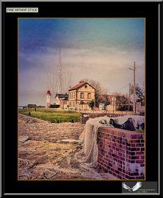 HONFLEUR...De l'autre coté du port...finearthof style by Artiste photographe -ERIC VILLEY-et-Carine