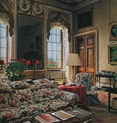 thesixthduke:  Blue Drawing Room, Chatsworth House. 1980's.