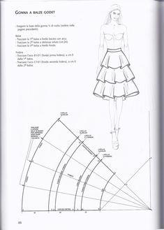 Girl Dress Patterns, Dress Making Patterns, Skirt Patterns Sewing, Pattern Making, Clothing Patterns, Fabric Sewing, Blouse Patterns, Pattern Skirt, Sewing Hacks