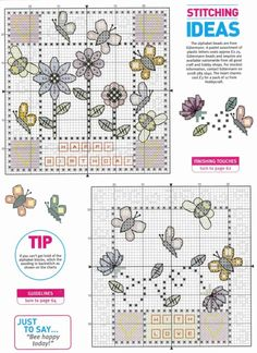 Floral birthday cards part 3 of 3 free cross stitch patterns