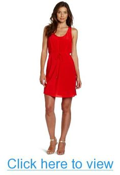 Donna Morgan Women's Scoop Neck Silk Dress