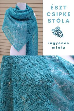 Lace Knitting Patterns, Shawl Patterns, Silk Ribbon, Diy And Crafts, Knit Crochet, Sewing, Fashion, Breien, Moda