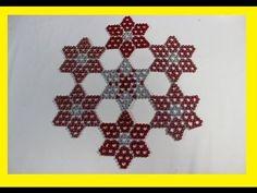 Beaded Jewelry Patterns, Beading Patterns, Cross Stitch Designs, Cross Stitch Patterns, Bead Crafts, Diy And Crafts, Brick Stitch Tutorial, Crochet Bedspread Pattern, Dulhan Mehndi Designs