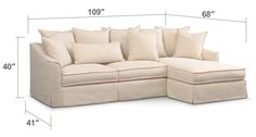 Playscape Left Arm Facing Sectional Sleeper Sofas