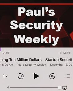 Learn something new today from Paul's Startup Security Weekly Podcast episode number 19 #flashpoint #securityweekly #cybersecurity #news #infosec #cyber #hacking  #ciso #informationsecurity #podcast #securitysphere #startup #coding #programming #software #developer #javascript #technology #encryption #pentesting #python  #angularjs #javascript #watchdogs2  #hackathon #linux #business