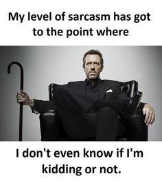 My Level Of Sarcasm