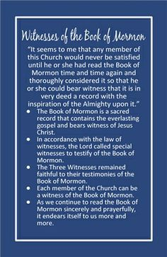 Chapter 9 Witnesses of the Book of Mormon preview