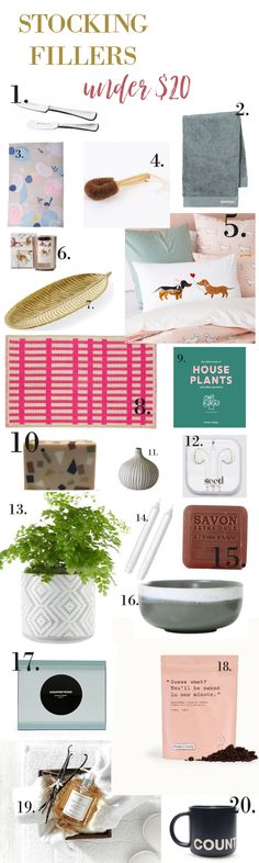 Stocking fillers under $20. Stuck for last minute affordable gift ideas - we're sharing our favourite ideas!