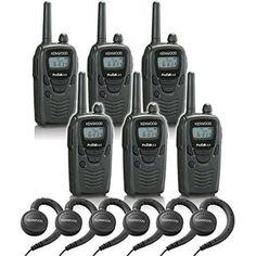 Kenwood ProTalk UHF TK3230DX 2-Way Radio Six Pack w/ Headset