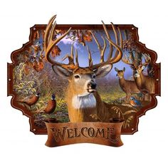 Deer Welcome Metal Wall Art
