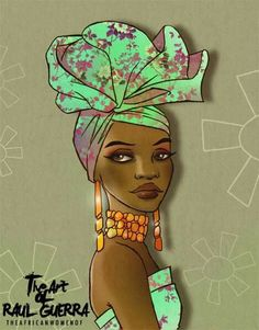 Black Girl Art, Black Women Art, Black Art, Africa Painting, Africa Art, Female Face Drawing, Female Art, Cartoon Head, Elephant Art