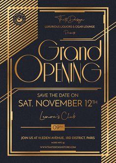 Customizable Business Templates Grand Opening Flyers posters for luxury event. create a flyer that is unique, engaging and informative for a launching party Business Invitation, Invitation Card Design, Event Invitation Templates, Invitation Wording, Flyer Design Templates, Flyer Template, Grand Opening Invitations, Grand Opening Banner, Award Poster