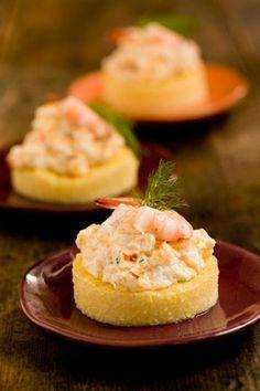 Cheesy Shrimp on Grits Toast
