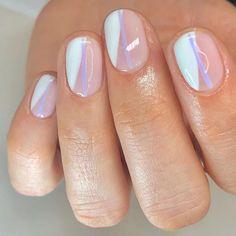 Stylish Nails, Trendy Nails, Cute Short Nails, Short Nails Art, Cute Acrylic Nails, Gel Nails, Coffin Nails, Shellac Nail Art, Finger