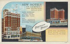 vintage south padre island postcards | ... - South Bend, Indiana & Hotel Fort Armstrong - Rock Island, Illinois