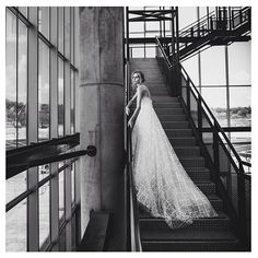 Urban brides will fall in love with our Valentina gown, amazing photo from our #stardust photo shot by @alexanderlipkin #mirazwillinger #couture