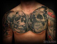 Skull Tattoo Motif   #Tattoo, #Tattooed, #Tattoos